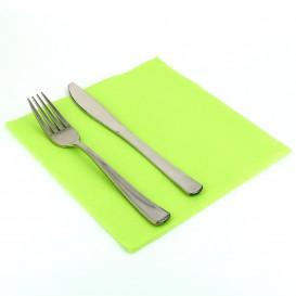 Serviette en papier molletonnée 40X40 Vert Citron(1.200Utés)