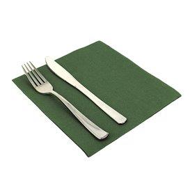 Serviette en papier molletonnée 40X40 Verte (1.200 Unités)