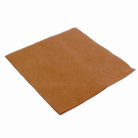 Serviette en papier UNIE 40X40 Marron (1.200 Utés)