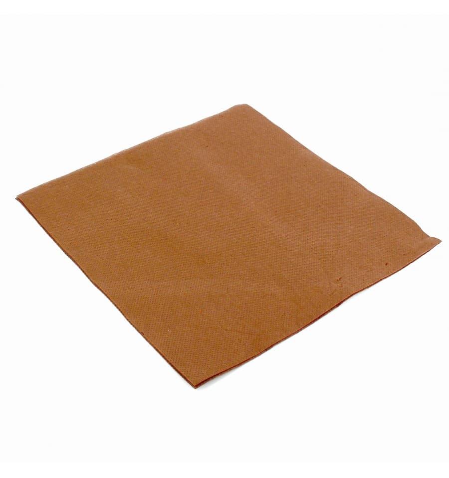serviette papier molletonn e 40x40 marron ut s. Black Bedroom Furniture Sets. Home Design Ideas