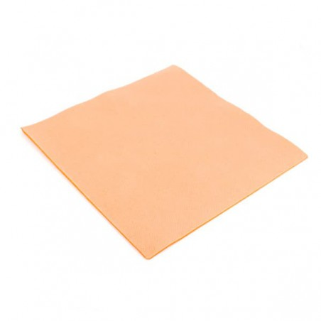 Serviette en papier UNIE 40X40 Saumon (1.200 Unités)