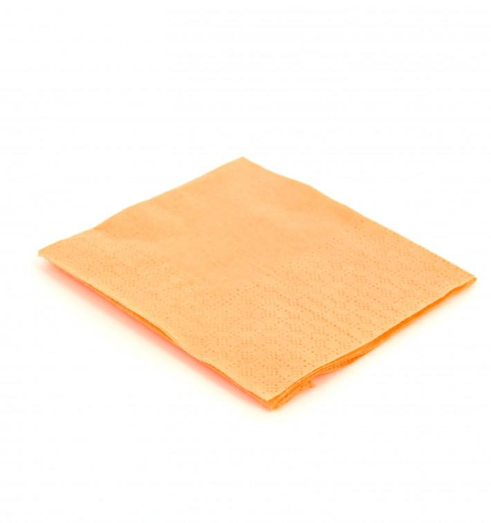 Serviette Papier à Cocktail  20x20 Saumon (100 Unités)