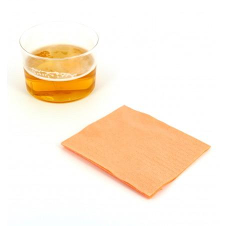 Serviette cocktail 20x20 Saumon (100 Unités)