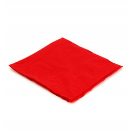 Serviette cocktail 20x20 Rouge (100 Unités)
