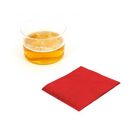 Serviette cocktail 20x20 Rouge (3.000 Unités)