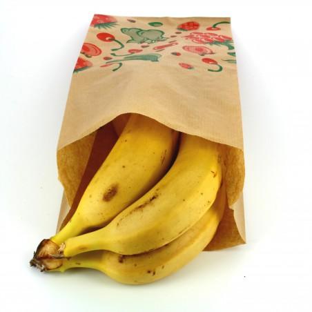 Sac Fruit Kraft 14+7x28cm (1000 Utés)