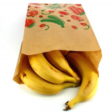 Sac Fruit Kraft 18+10x32cm  (1000 Utés)