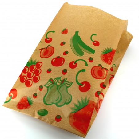 Sac Fruit Kraft 22+12x36cm (1000 Utés)