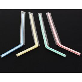 Pailles Flexibles Emballées Individuellement Ø6mm 23cm (1.000 Utés)