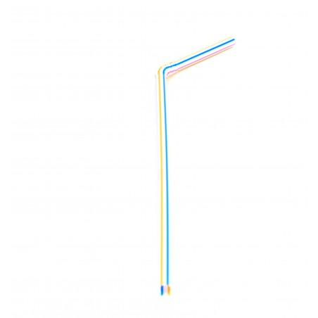 Pailles Flexibles  Ø 5 mm 23 cm (50 Unités)