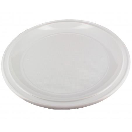 Assiette Plastique à Pizza Blanche 280mm (400 Unités)
