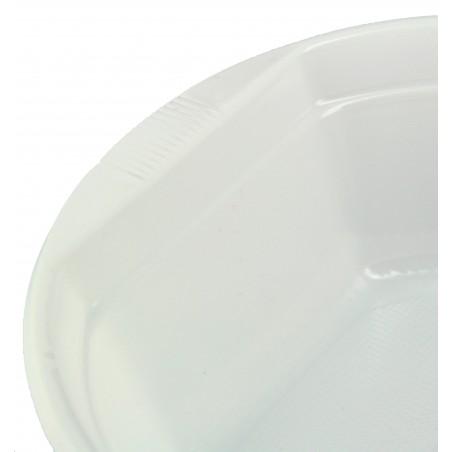 Bol Plastique Blanc 500ml (100 unités)