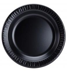 Assiette plate en Foam Noir 230mm (500 Utés)