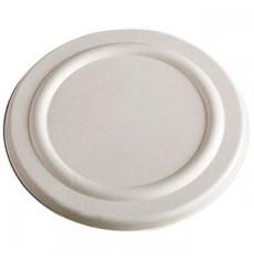 Couvercle en Canne à Sucre Blanc pour Pot 425ml Ø95mm (600 Utés)
