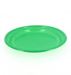Assiette Plate Plastique Verte 205mm (960 Unités)