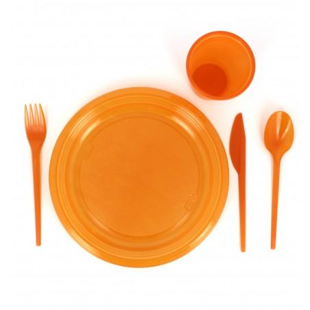 Couteau Plastique Orange de 165mm (15 Unités)
