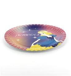 Assiette carton princesse 23cm (8 Unités)