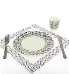 Assiette carton Décorée 18cm (12 Unités)