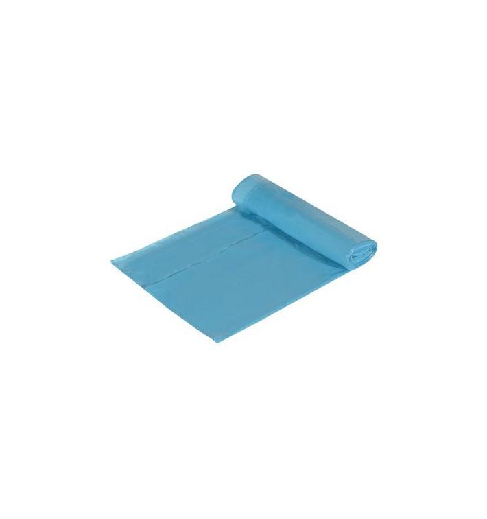 Sac poubelle 55x55cm fermeture facile Bleu (15 unités)