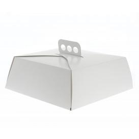 Boîte en Carton Blanc Tarte Carrée 30x30x10cm (50 Unités)