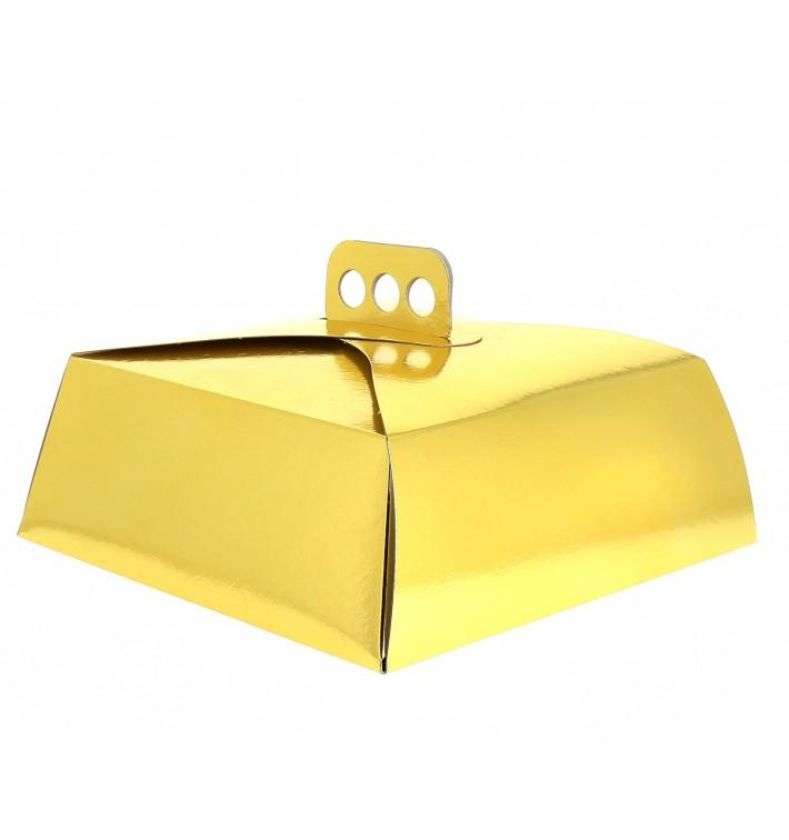 Boîte En Carton Doré Tarte 27,5x27,5x10 cm (50 Utés)