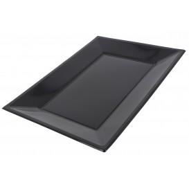 Plateau Plastique Noir rectang. 330x 225mm (90 Unités)