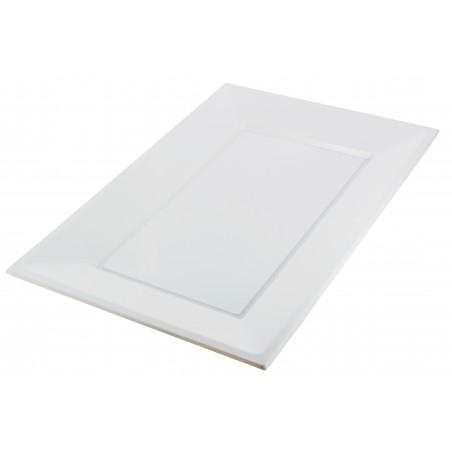 Plateau Plastique Blanc Rectang. 330x 225mm (90 Unités)