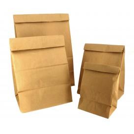 Sac en papier KRAFT sans anses 12+8x24cm (1000 Unités)