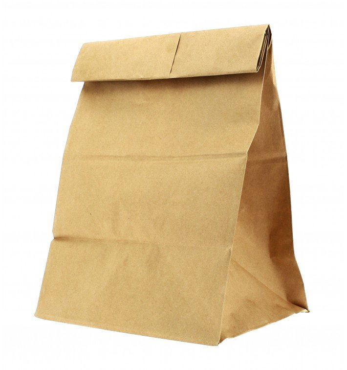 Sac en papier KRAFT sans anses 18+12x29cm (1000 Unités)