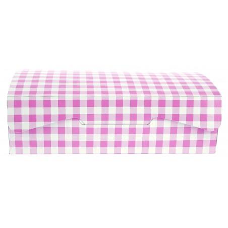 Boîte pâtissière 17,5x11,5x4,7cm 250g. Rose (5 Utés)