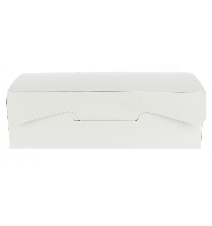 Boîte pâtissière 18,2x13,6x5,2cm 500g Blanc (25 Unités)