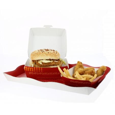 Boîte à Hamburger Carton  XXL 15,5x15,5x8 cm (25 Utés)