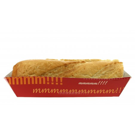 Barquette HOT DOG 17,0x5,5x3,8cm (50 Utés)