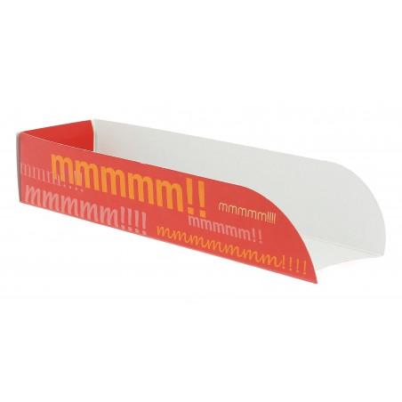 Emballage Hot Dog Design 17x5x3,5cm (Paquet 25 Unités)