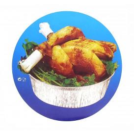 Couvercle Carton Récipient Rond 1900ml poulet (125 Utés)