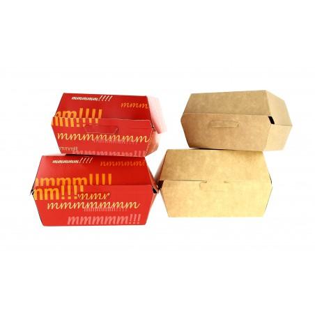 Boîte à Hamburger Carton 14x13x7,0cm (25 Unités)