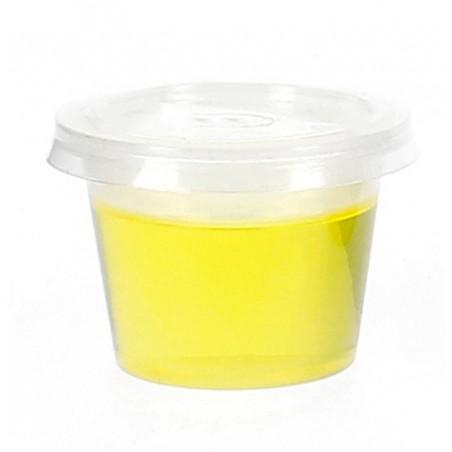 Pot à sauces en plastique avec COUVERCLE 33ml (100 Utés)