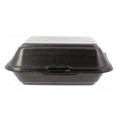 Boîte en FOAM LunchBOX Noir 185x155x70mm (125 Unités)