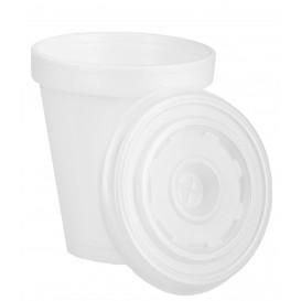 Gobelet Foam 180ml BLANC + Couvercle (Pack 2.000 Unités)