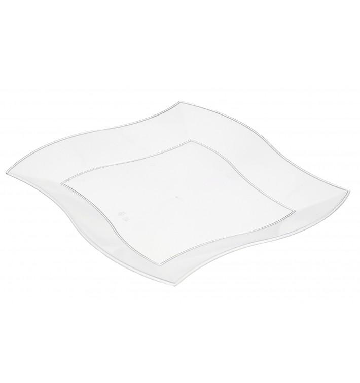 Assiette Plastique Plate Ondulée Blanche 230mm (300 Utés)
