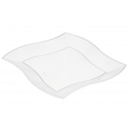 Assiette Plastique Plate Ondulée Blanche 230mm (5 Unités)