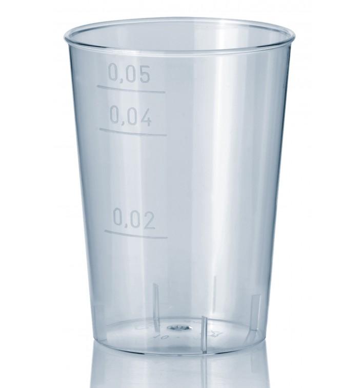 Verre Plastique Dur Transparent PS 50ml (40 Unités)