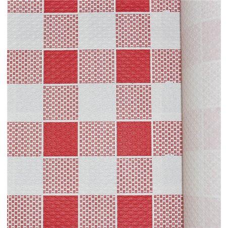 Nappe en papier en ROULEAU Carré rouge 1x100m 40g (1 Unité)