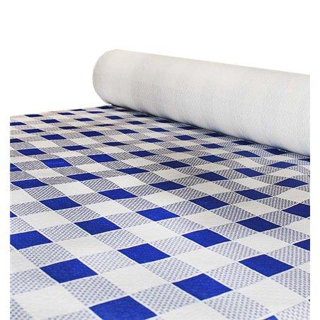 Nappe en papier en ROULEAU Carré bleu 1x100m 40g (1 Unité)