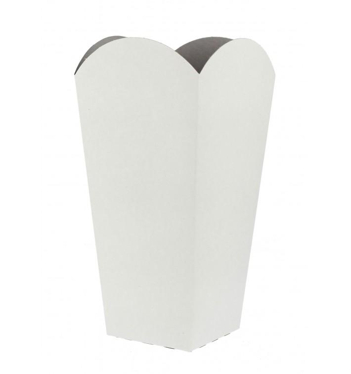 Etuis à Pop-Corn Petit  Blanc 45 gr 6,5x8,5x15cm (700 Unités)