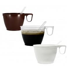 Tasse Plastique Dur Marron 180ml (50 Unités)
