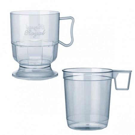 Tasse plastique Dur Transparent 200ml (12 Unités)