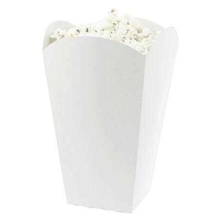 Etuis à Pop-Corn Moyen Blanc 90 gr  7,8x10,5x18cm (350 Utés)