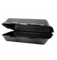 Boîte en FOAM LunchBox Noir 24,0x155x70mm (125 Unités)