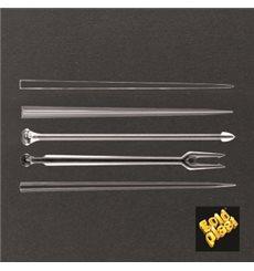 Pique en Plastique Snack Stick Transparent 90mm (1650 Utés)